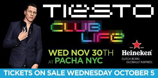 EVENTS: Tiesto @ Pacha NYC 11/30/2011