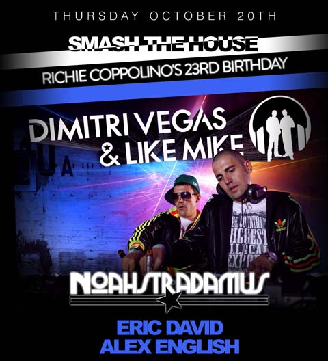 dimitri vegas EVENTS: Dimitri Vegas & Like Mike @ District 36
