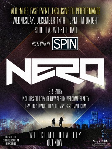Nero 12 14 CONTEST: Nero SOLD OUT Webster Hall Ticket Giveaway