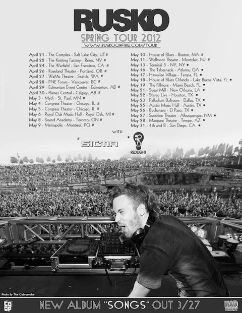 rusko1 NEWS: Rusko Announces North American Tour to Promote Songs
