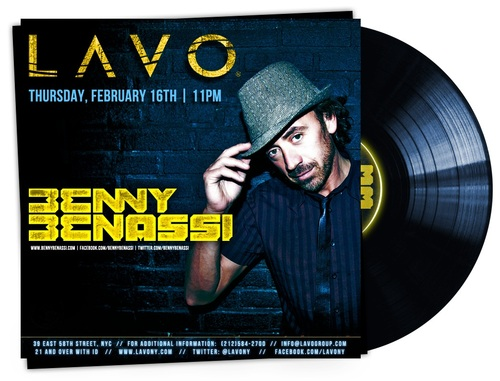 Benny Benassi Lavo 2 16 EVENTS: Benny Benassi Leads Lavo Prez Weekend Line up