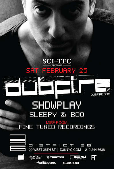 dubifree2 EVENT : Dubfire @ District 36  2.25