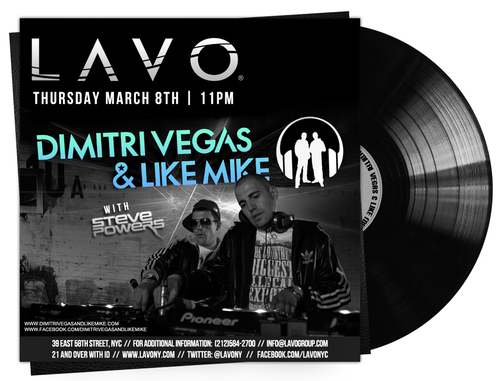 Dimitri Mike Lavo EVENT: Dimitri Vegas & Like House Tapped To Lavo Smash!