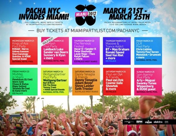 Pacha Miami EVENT: Pacha Throwing WMC Party Marathon   NYC 2 Miami!
