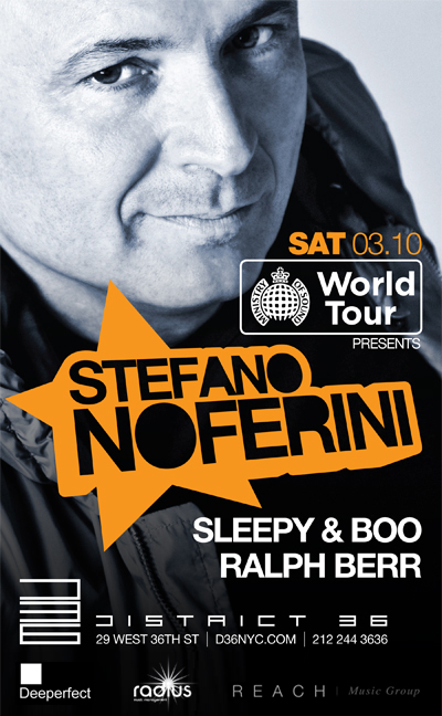 noferini EVENT: Stefano Noferini @ District 36 3.10