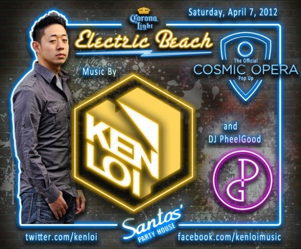 4.7.12 EVENT: Ken Loi Slated to Rock Electric Beach @ Santos Party House Saturday 4/7