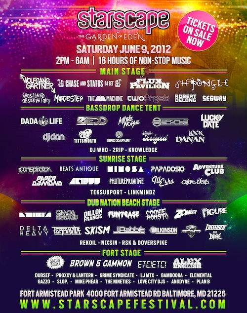 lineup infographic Starscape 2012: What You Need to Know