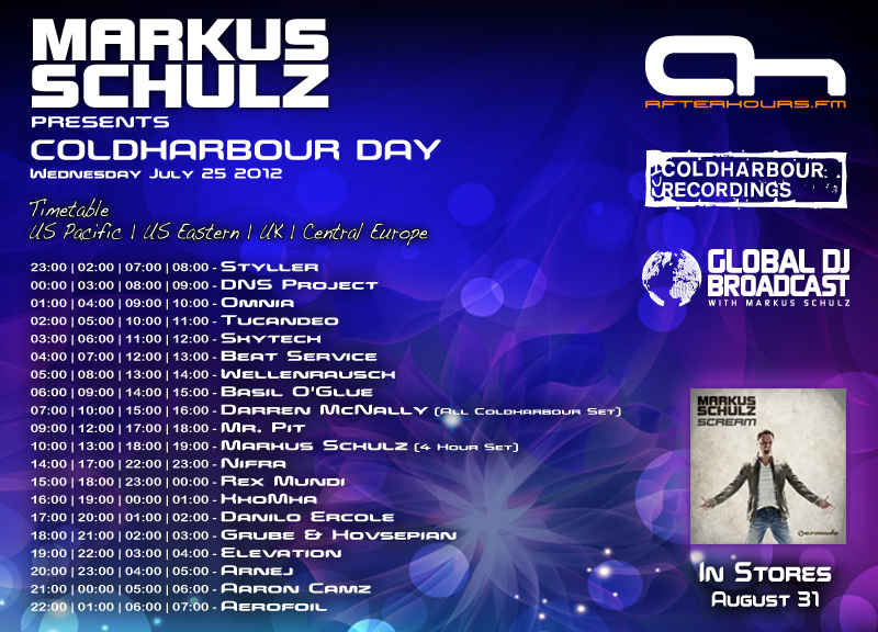 ColdharbourDay2012Timetable Markus Schulz Presents Coldharbour Day 2012