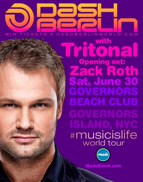 Dash Berlin1 REVIEW: Dash Berlin & Tritonal @ Governors Island 6/30