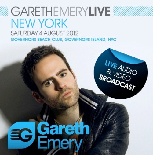  CONTEST: Gareth Emery & Friends @ Governors Island 8/4