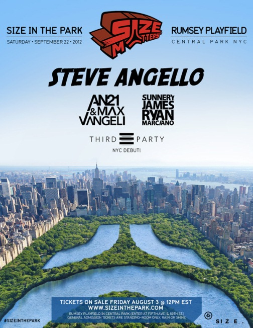 Size922 NEWS: Size Records Plans Central Park Takeover 9/22