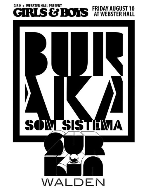 Walden Webster CONTEST: Win Tix For Buraka Som Sistema + Surkin + Walden @ Webster Hall 8.10