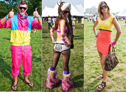 festival fashion The Things You See At Music Festivals A Z