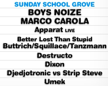 sunday dunday1 Electric Zoo Festival 2012: What You Need to Know – Sunday: Sunday School Grove
