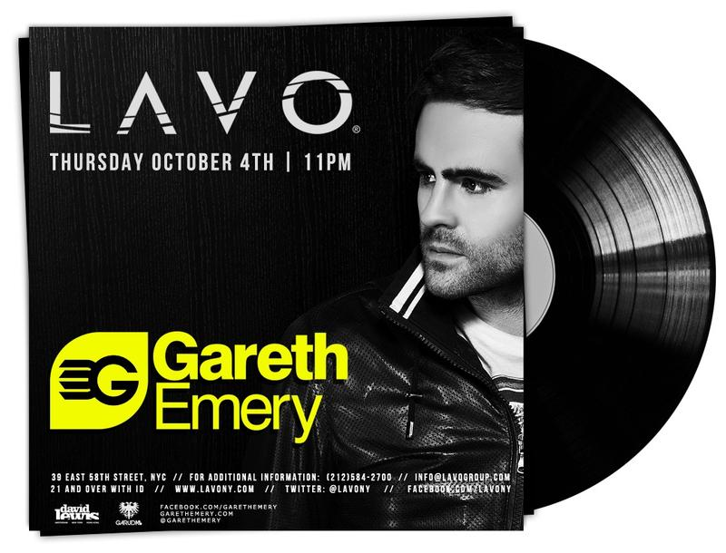 EVENT: Gareth Emery @ Lavo 10.4