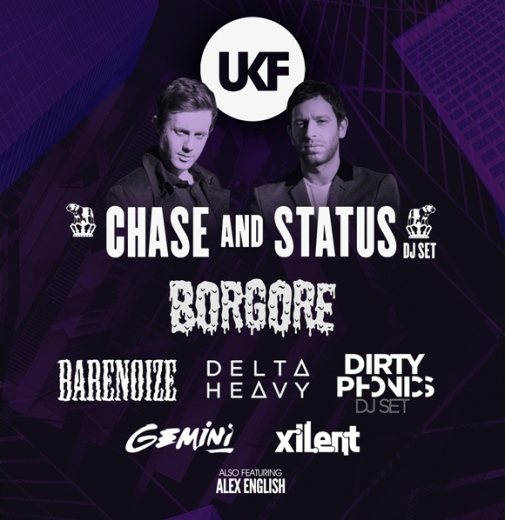 UKF EVENT: UKF Presents Chase & Status, Borgore and Gemini plus more @ Hammerstein Ballroom 12.1