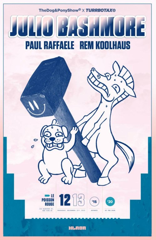 Julio EVENT: Julio Bashmore & Paul Raffaele @ Le Poisson Rouge 12.13