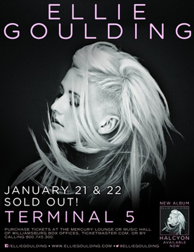 ellie goulding terminal 5 EVENT: Ellie Goulding @ Terminal Five 1.21 + 1.22