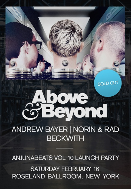 Above & Beyond @ Rosleland Ballroom for Anjunabeats Volume 10