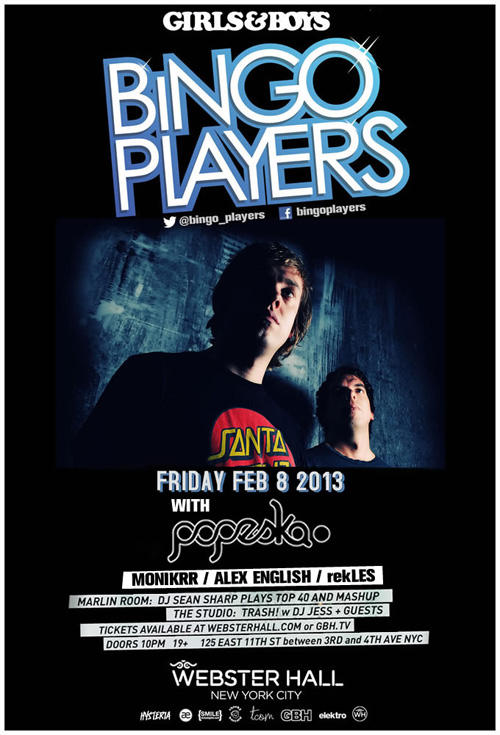 bingoplayers webster EVENT: Bingo Players @ Webster Hall 2.8