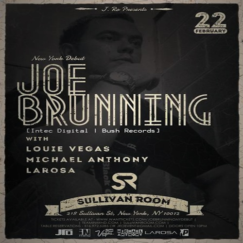 joe brunning PREVIEW: Joe Brunning USA Debut at Sullivan Room NYC 2.22