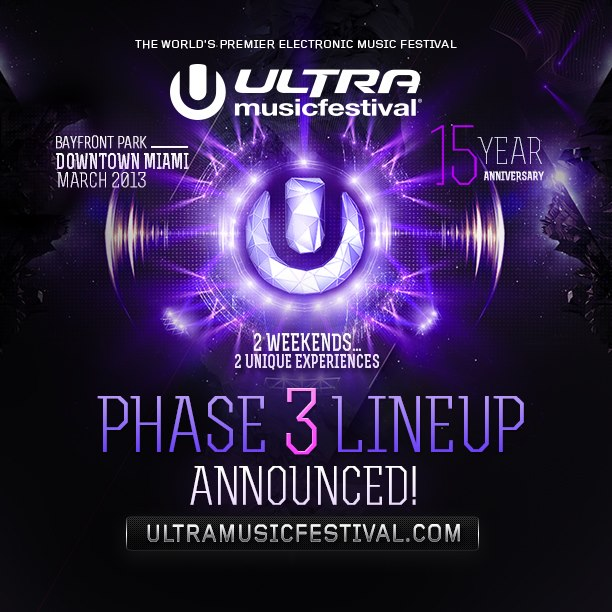 Ultra Phase 3 Lineup