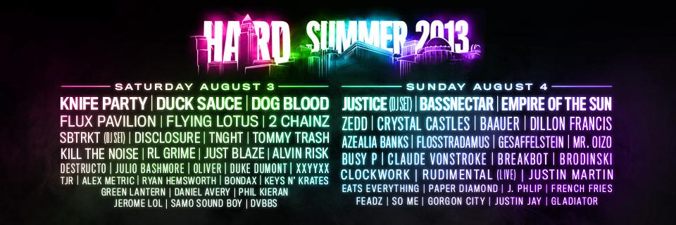 Hard Summer Unveils 2013 Line Up