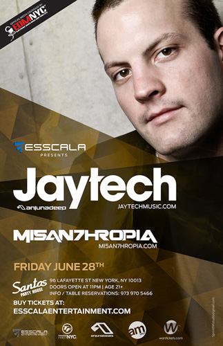 EVENT: Esscala Presents: Jaytech @ Santos Party House