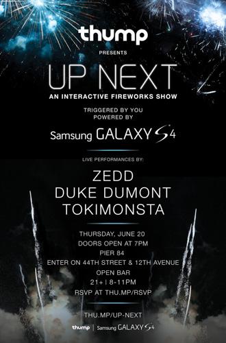 Thump presents Up Next w/ Zedd, Duke Dumont & TOKiMONSTA @ Pier 84 6.20
