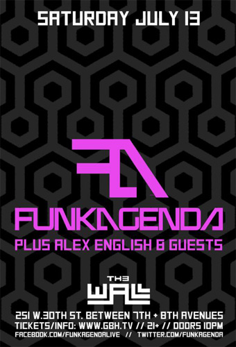 EVENT: Funkagenda w/ Alex English @ The Wall 7.13