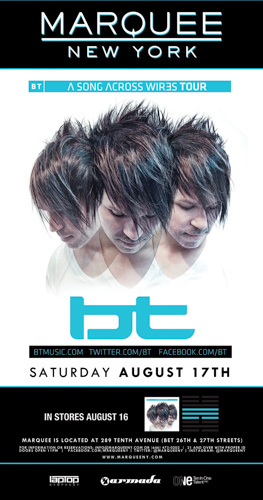 EVENT: BT @ Marquee NY