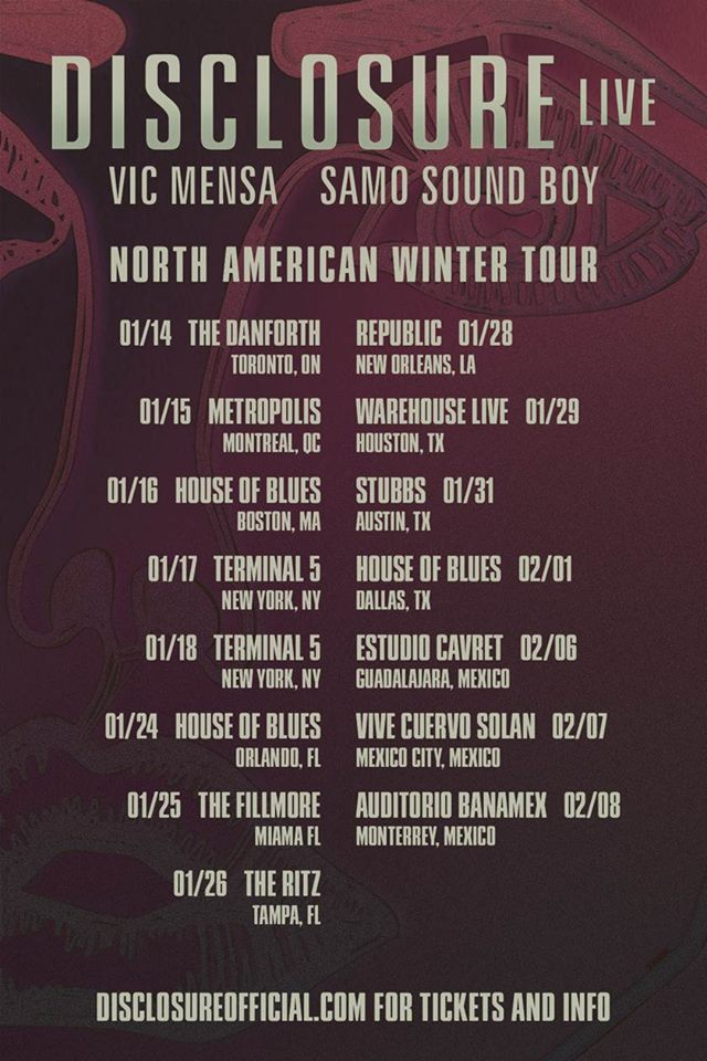1231451 640217586011837 640391769 n Disclosure Announces North American Winter Tour   NYC Gets 2 Dates