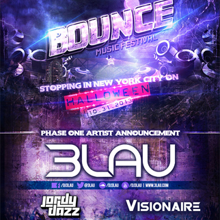 Bounce Music Festival featuring 3LAU, Jordy Dazz & Visionaire @ Best Buy Theater 10.31