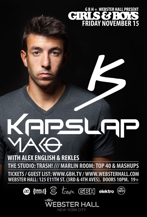 kapslap Kap Slap at Webster Hall 11 15 13
