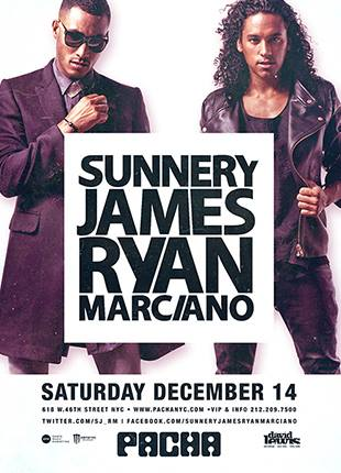 Sunnery James & Ryan Marciano and Pete Tong w/ Reboot (late night) @ Pacha NYC 12.14