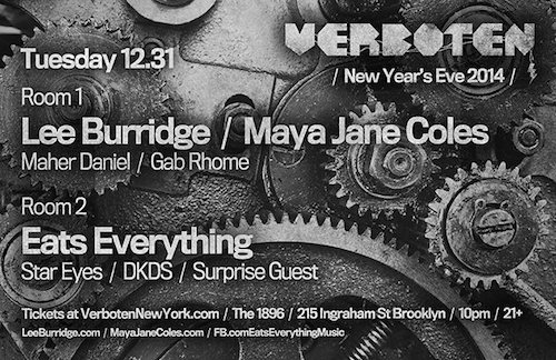 Verboten brings down the (ware)house for New Year's Eve 2014