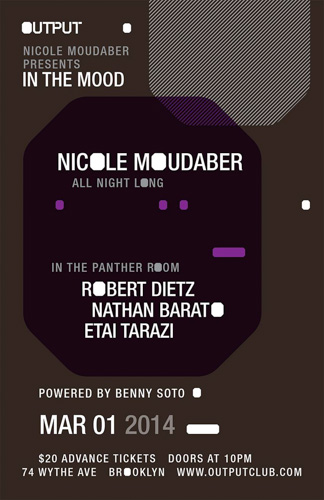 EVENT: Nicole Moudaber presents 'In The Mood' @ Output 3.1