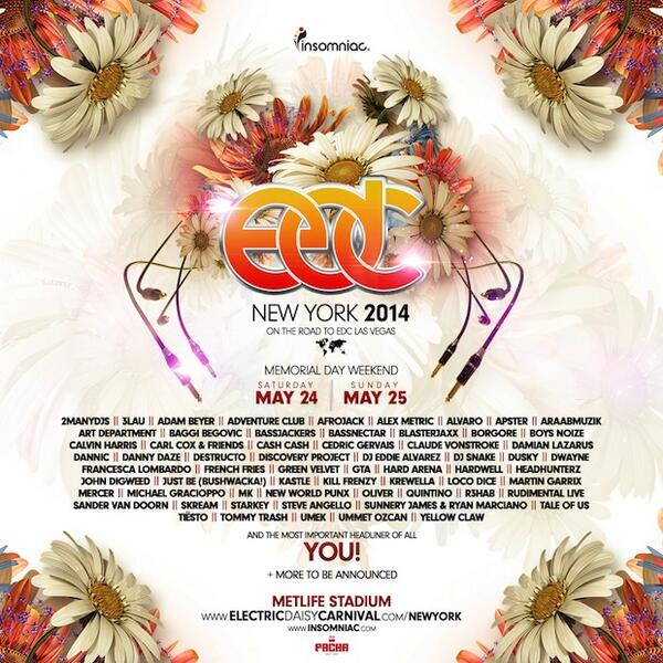 NEWS: EDC New York announces line-up with more to come