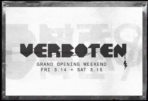 NEWS: Verboten's Williamsburg club to open this weekend