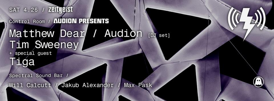 Matthew Dear / Audion at Verboten 4/26