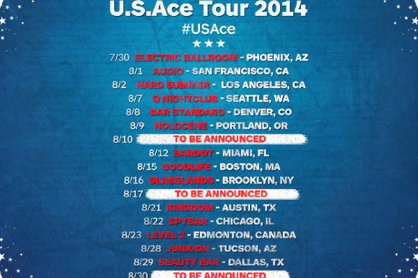 Vanilla Ace Announces U.S.Ace Tour 2014