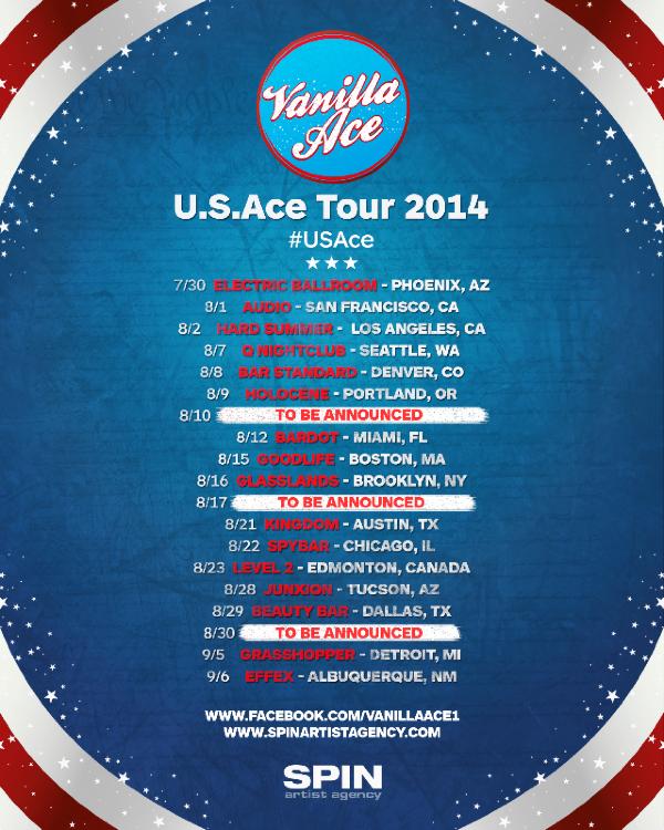 Vanilla Ace Announces U.S.Ace Tour 2014
