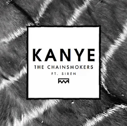 Kanye - The Chainsmokers album artwork