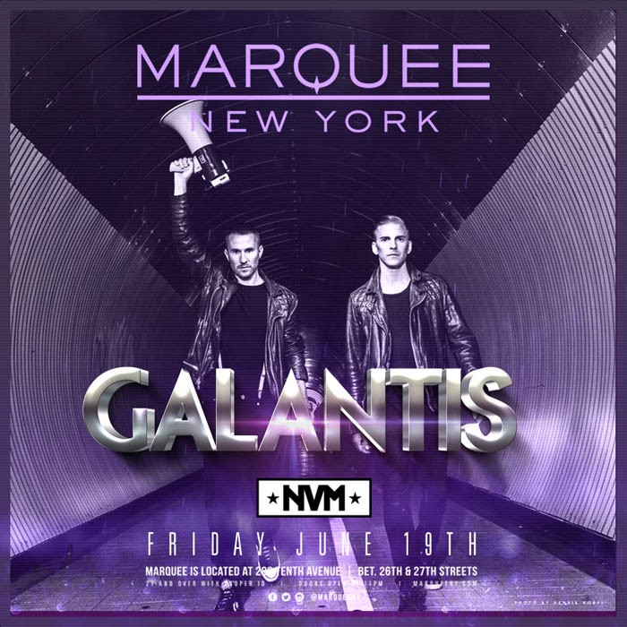 Galantis at Marquee NY on June 19 2015